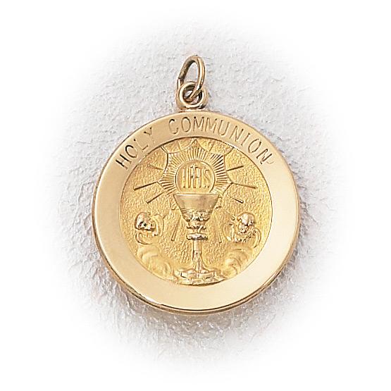 14K Gold Holy Communion Medal