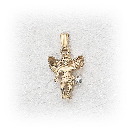14k gold angel pendant w02ct diamond holy gold jewelry 14k gold angel pendant w02ct diamond aloadofball Images